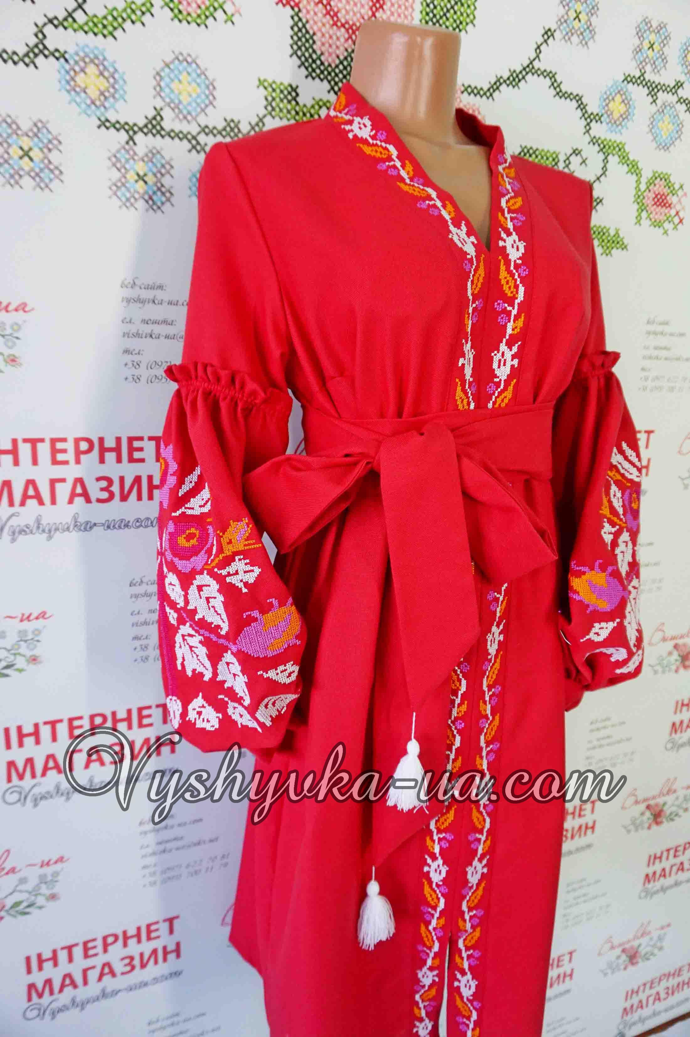 Купити вишиванку Сукня-вишиванка в стилі бохо