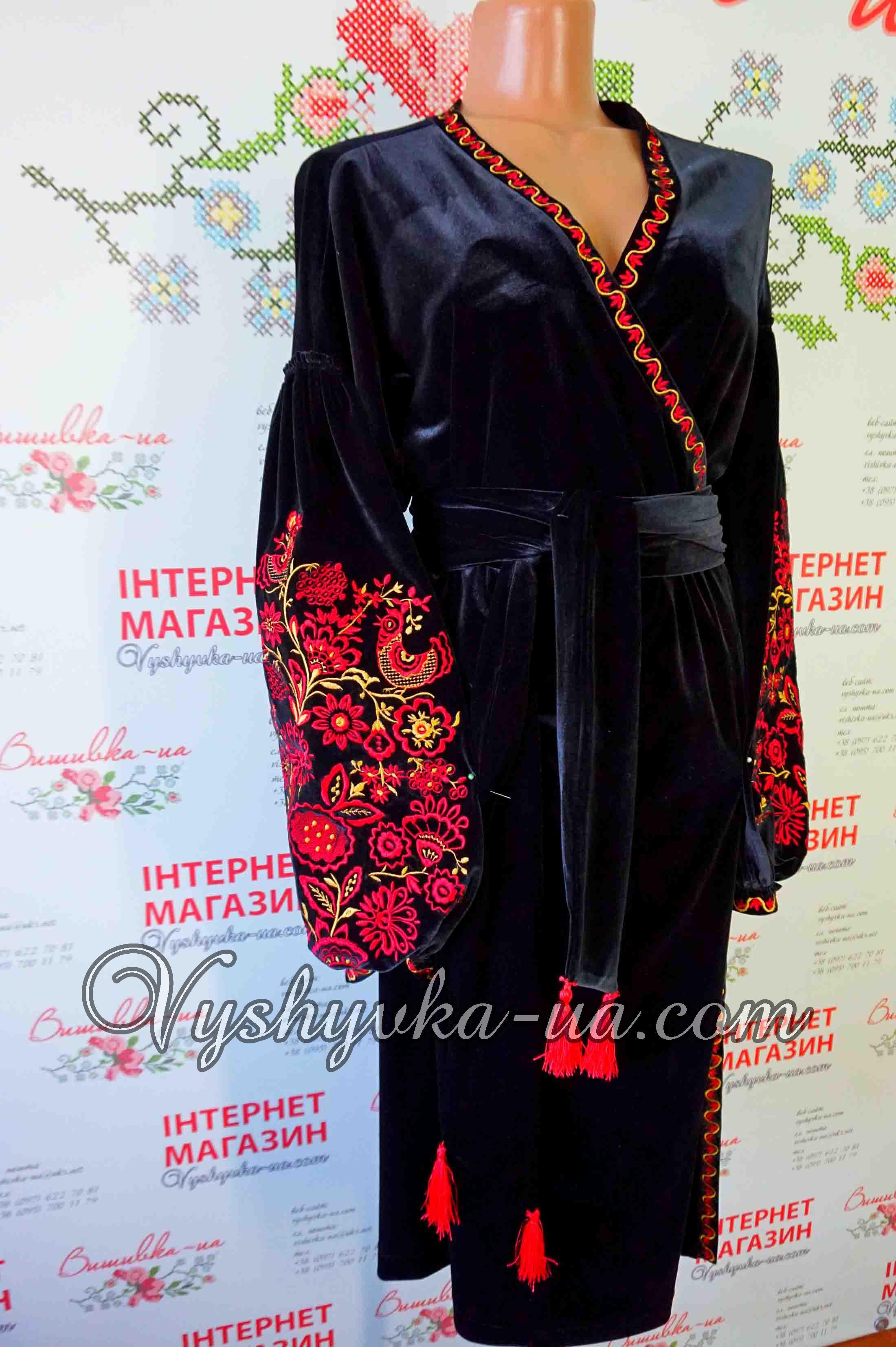 Купити вишиванку Ексклюзивна вишита бархатна сукня в стилі бохо ... 5fcca8474c8d8
